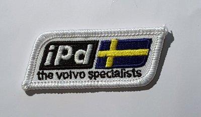 IPD logo zweedse vlag Stof