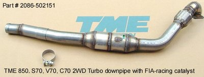 "TME 3"" Downpipe Volvo 850 / S70 / V70 / C70 Turbo 1996-98"